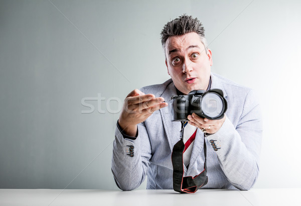 photography gear crook telling stories Stock photo © Giulio_Fornasar
