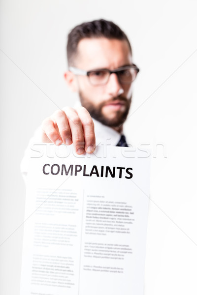 complaints shown by disapponted customer Stock photo © Giulio_Fornasar