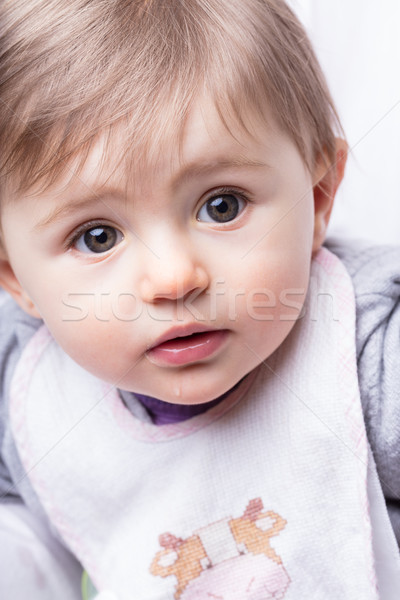 baby girl close up studio portrait Stock photo © Giulio_Fornasar