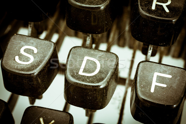 D letter on a vintage typewriter keyboard Stock photo © Giulio_Fornasar