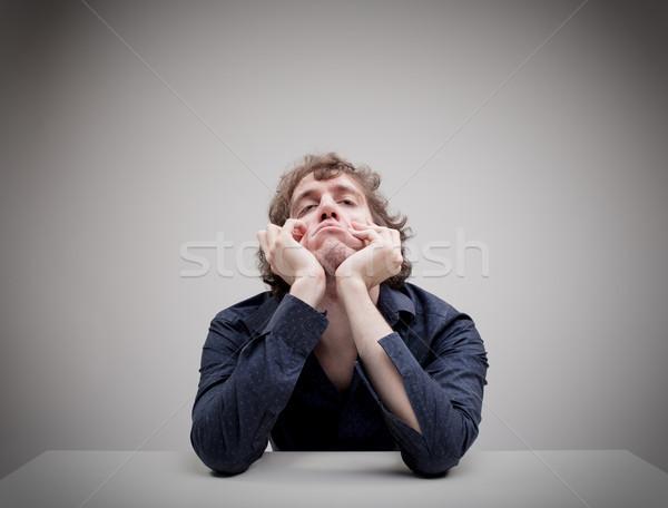 Ritratto giovani annoiato uomo pensare faccia Foto d'archivio © Giulio_Fornasar