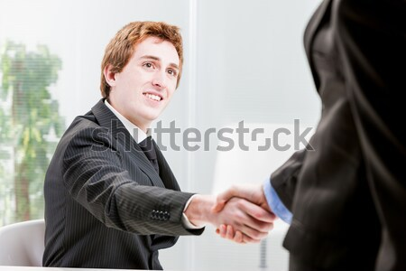 red headed businessman shaking hands Stock photo © Giulio_Fornasar