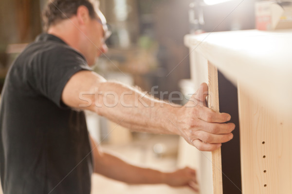 powerful arm and hand of a carpenter Stock photo © Giulio_Fornasar