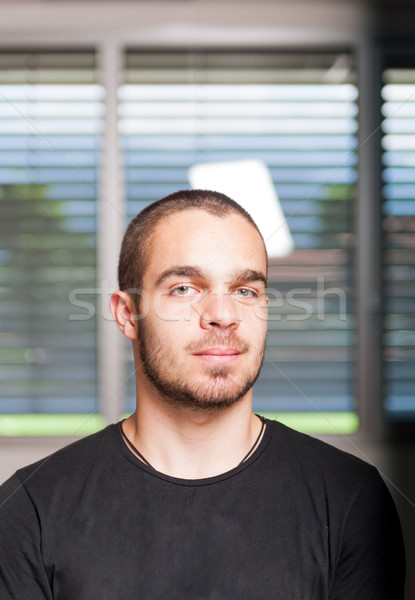 challenging look by a young man Stock photo © Giulio_Fornasar