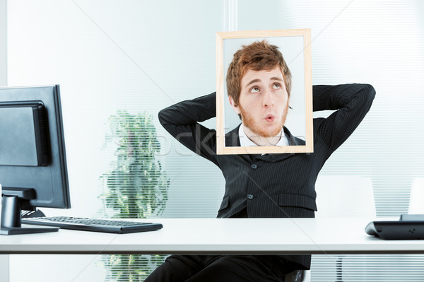 funny concept of an indifferent office worker Stock photo © Giulio_Fornasar