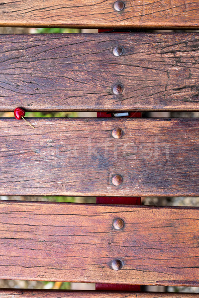 country concept with wood and red cherry Stock photo © Giulio_Fornasar