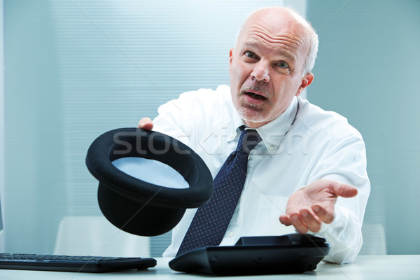 Give me a handout I'ma poor businessman! Stock photo © Giulio_Fornasar