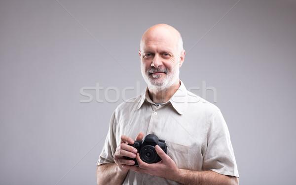 Fotoğrafçı dslr eller profesyonel uzman Stok fotoğraf © Giulio_Fornasar