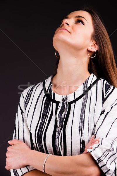 Gyönyörű nő pózol test szépség igazgató Stock fotó © Giulio_Fornasar