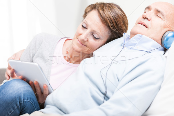 Contented couple spending a relaxing day together Stock photo © Giulio_Fornasar