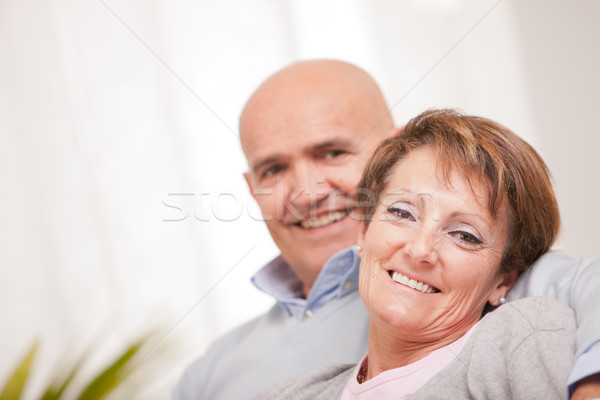 old woman smiling happily with his husband Stock photo © Giulio_Fornasar