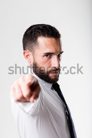 man (boss) pointing out to you Stock photo © Giulio_Fornasar