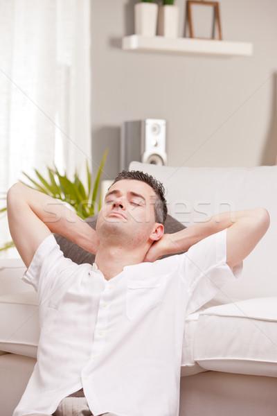 relaxed man having finally his time off Stock photo © Giulio_Fornasar