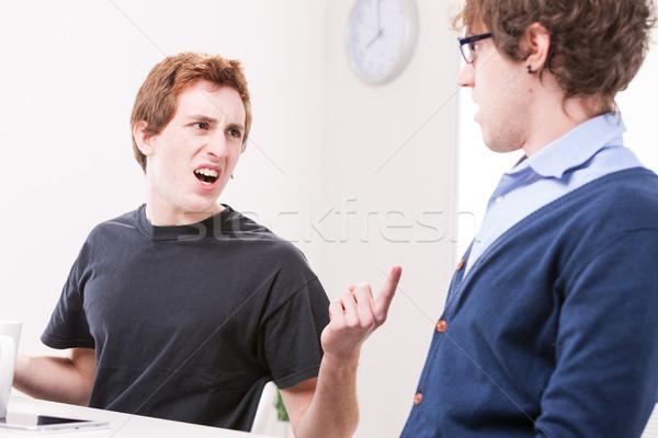 Mannen ruzie werkplek zakenlieden kantoormedewerker baan Stockfoto © Giulio_Fornasar