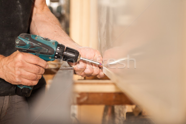 fasten of furniture in woodworker workshop Stock photo © Giulio_Fornasar