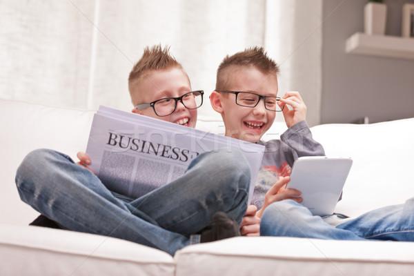 üzlet információ nem játék kettő kicsi Stock fotó © Giulio_Fornasar