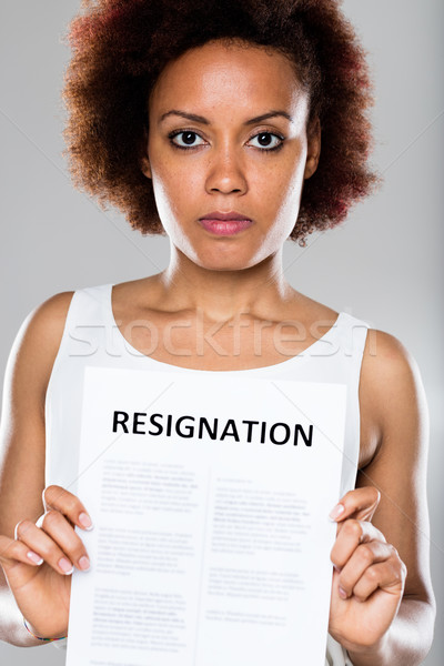 serious business woman showing resignation Stock photo © Giulio_Fornasar