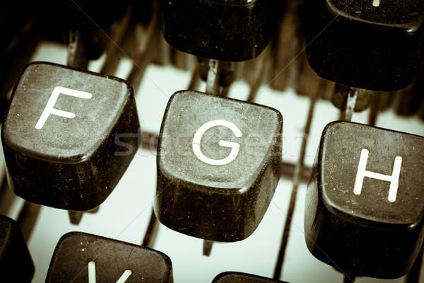 手紙 ヴィンテージ タイプライター キーボード クローズアップ その他 ストックフォト © Giulio_Fornasar