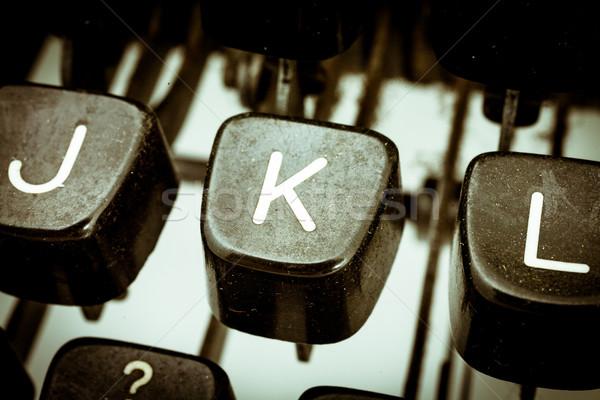 Brief vintage schrijfmachine toetsenbord ander Stockfoto © Giulio_Fornasar