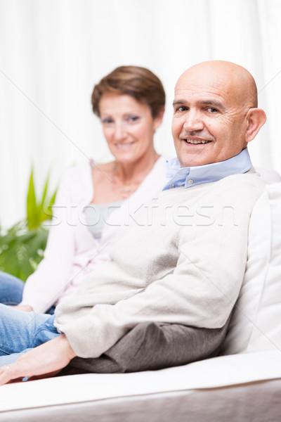 дружественный пару сидят вместе Сток-фото © Giulio_Fornasar