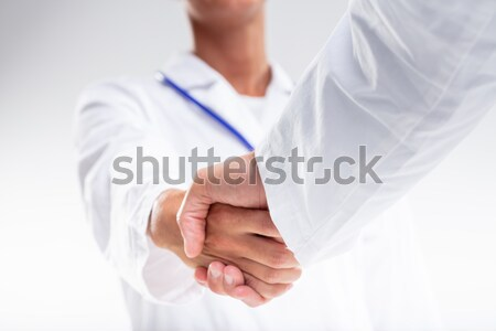 Two medical doctors shaking hands Stock photo © Giulio_Fornasar