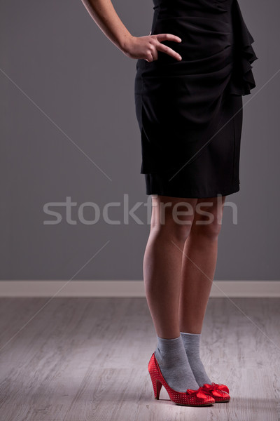 hot red heels on nice legs Stock photo © Giulio_Fornasar