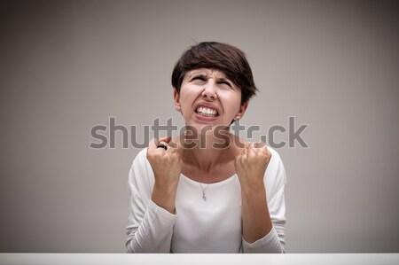 Stock fotó: Gyűlölet · enyém · gyomor · fiatal · nő · olasz · kézmozdulat