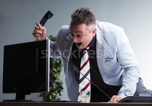 Enojado gerente pc jefe supervisar culpable Foto stock © Giulio_Fornasar
