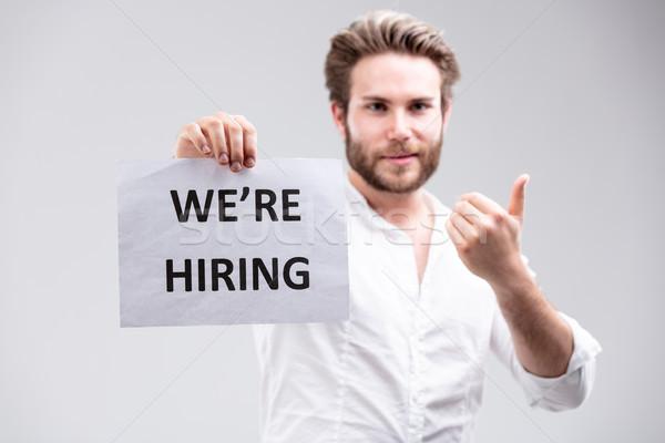 Employment concept - We Are Hiring Stock photo © Giulio_Fornasar