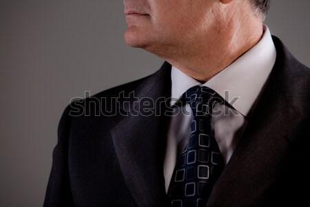 Stock photo: symbolic senior senior man in formal wear