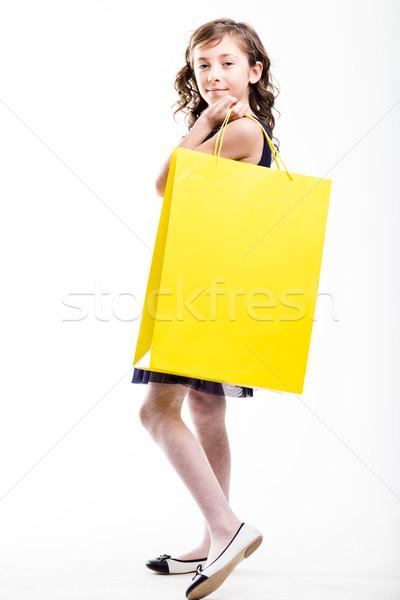 Divat áldozat lány vásárlás kicsi vásárol Stock fotó © Giulio_Fornasar