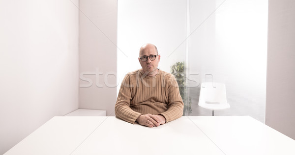 sad office worker in an empty room Stock photo © Giulio_Fornasar