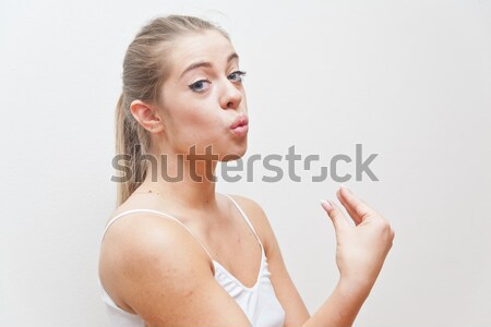 girl showing appreciation for something excellent Stock photo © Giulio_Fornasar