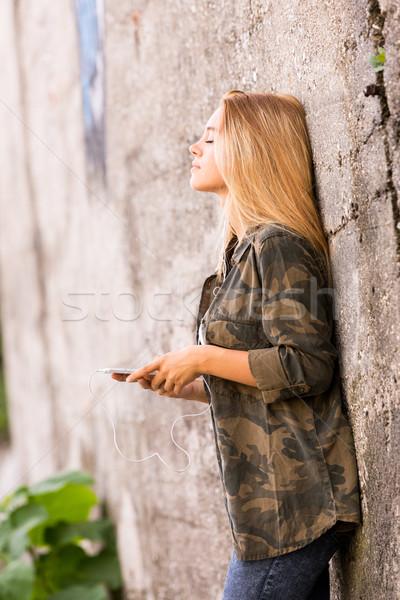 красивая девушка улице улице фотографии девушки Сток-фото © Giulio_Fornasar