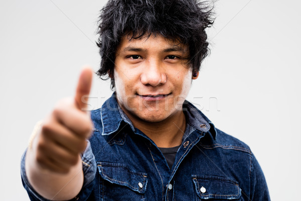 thumbs up for this South American guy Stock photo © Giulio_Fornasar