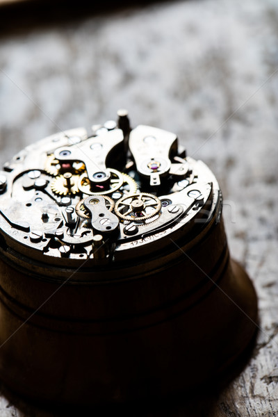 fascinating antique watch mechanism on repair table Stock photo © Giulio_Fornasar