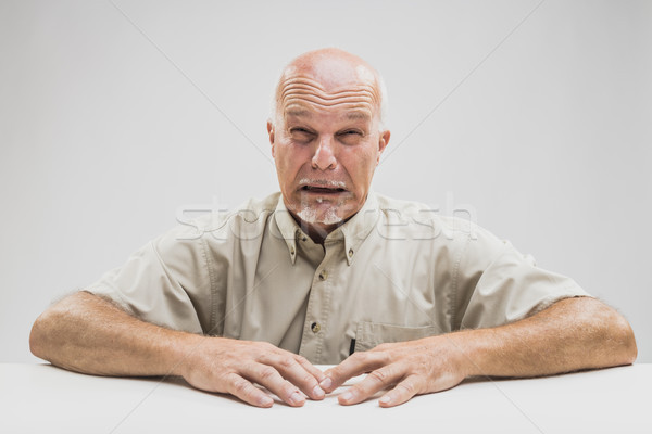 Emotional tearful elderly man blubbering Stock photo © Giulio_Fornasar