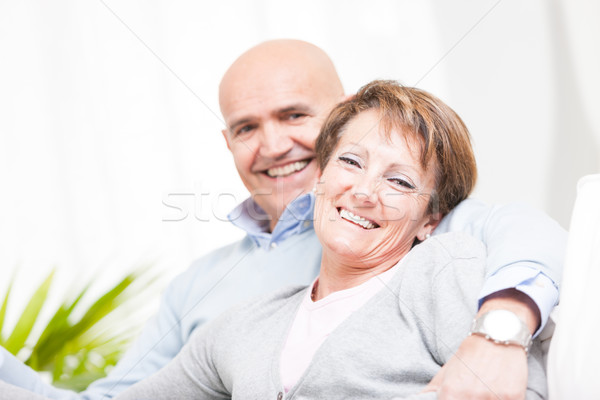 Laughing happy affectionate middle-aged couple Stock photo © Giulio_Fornasar