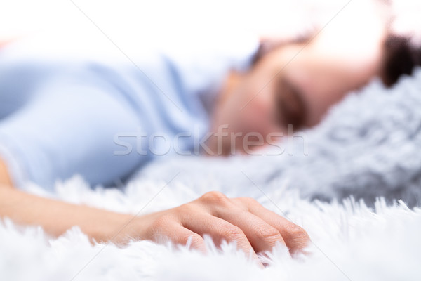 sweet dreams are made of furry pillows Stock photo © Giulio_Fornasar