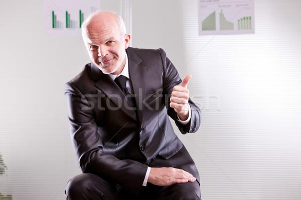 Self confident businessman agreeing Stock photo © Giulio_Fornasar