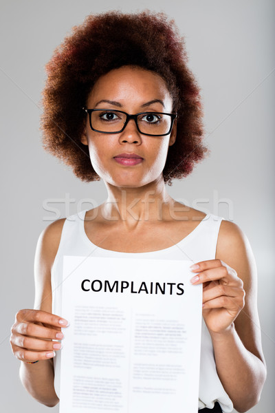 young woman complaining and disappointed Stock photo © Giulio_Fornasar
