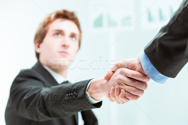 businessmen handshaking with hands in focus Stock photo © Giulio_Fornasar