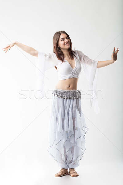 dancer gently moving in white background Stock photo © Giulio_Fornasar