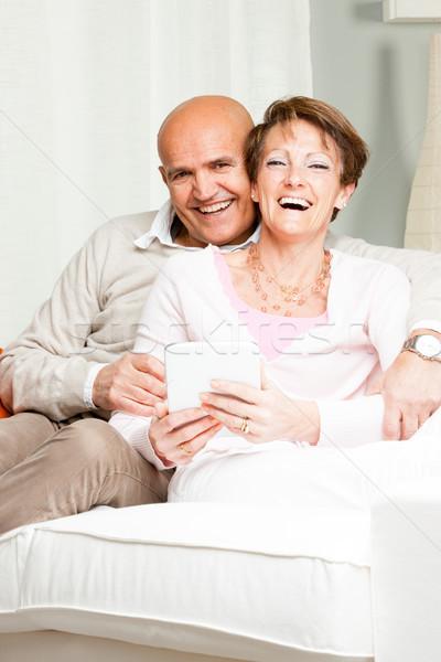 Alegremente casado risonho casal atraente Foto stock © Giulio_Fornasar