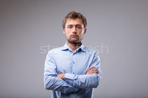 Unemotional man with a deadpan expression Stock photo © Giulio_Fornasar