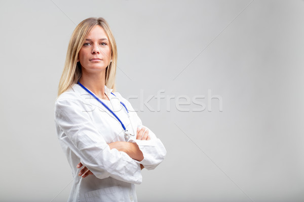 Confident serious young woman doctor Stock photo © Giulio_Fornasar
