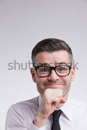 nerdy man with a good idea in mind Stock photo © Giulio_Fornasar