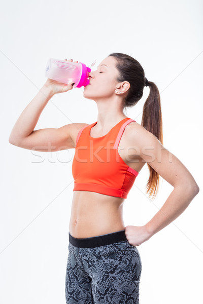 drinking and workout are healty lifestyle Stock photo © Giulio_Fornasar