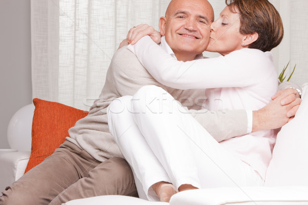 8d809227 #7163319 mature couple loving each other at home by Giulio_Fornasar Stock  photo
