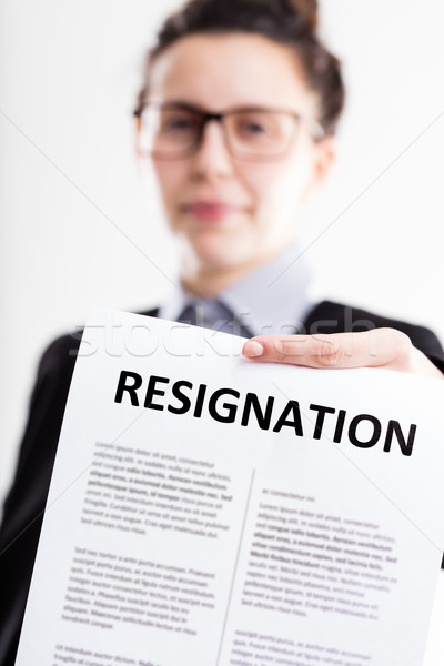 resignation letter on the foreground Stock photo © Giulio_Fornasar